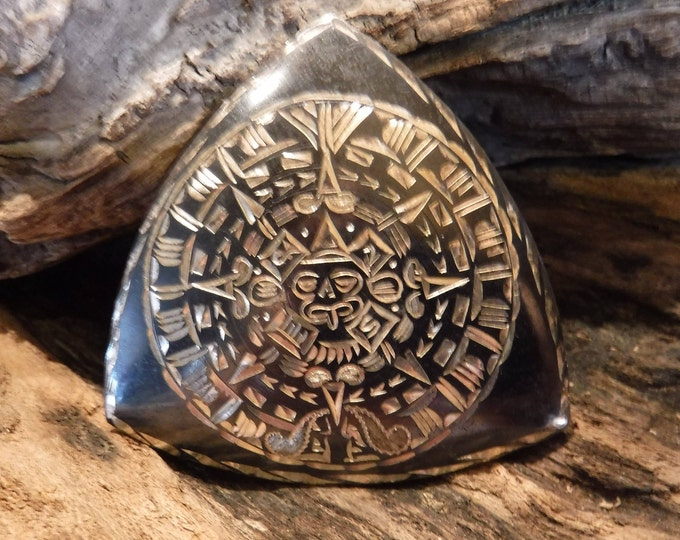 "Sun Pendant Necklace Vintage Mexico Sterling Heavy 13.4 grams 2""  Silver Sterling Sun Necklace Pendant Silver Aztec Mayan Sun Calendar"