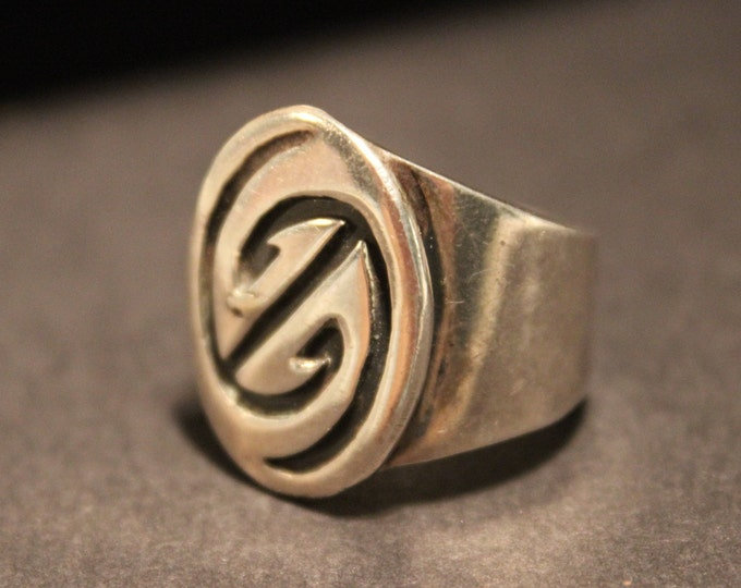 Vintage Mens Silver Ring Zuni Native American Rings Size 8.5 Mens Silver Zuni Sterling Silver Ring 10.9 Grams Silver Mens Rings Mens Ring