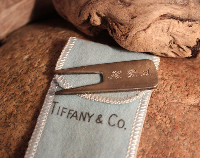 Authentic Tiffany & Co Sterling Silver Golf Divot Repair Tool With Box  Silver Golf Repair Tool Tiffany Golf Sterling Silver Tiffany Golf