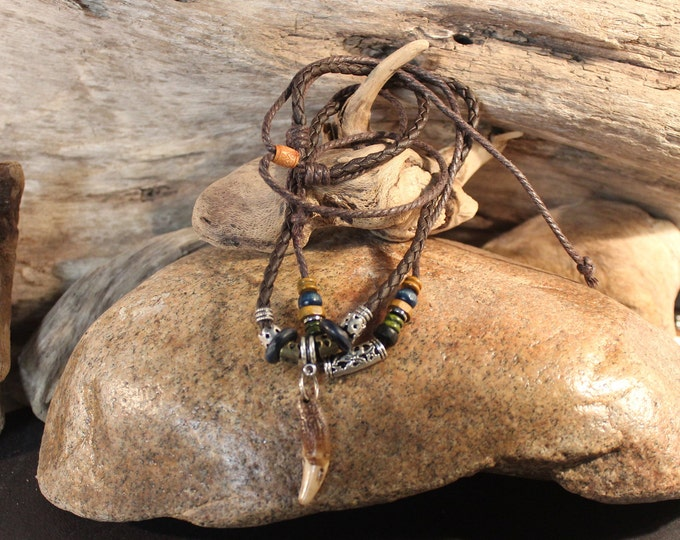 Wolf Tooth Necklace Wolf Teeth Necklace Wolf Necklace  Wolf Tooth Necklace Adjustable African Native American Tribal Spiritual Healing