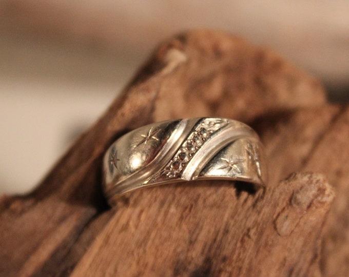 Vintage 14k Gold Mens Wedding Ring 3.6 Grams Mens Yellow Gold Wedding Band Size 8 Men Vintage Gold Rings Gold Vintage Wedding Band Mens Gold