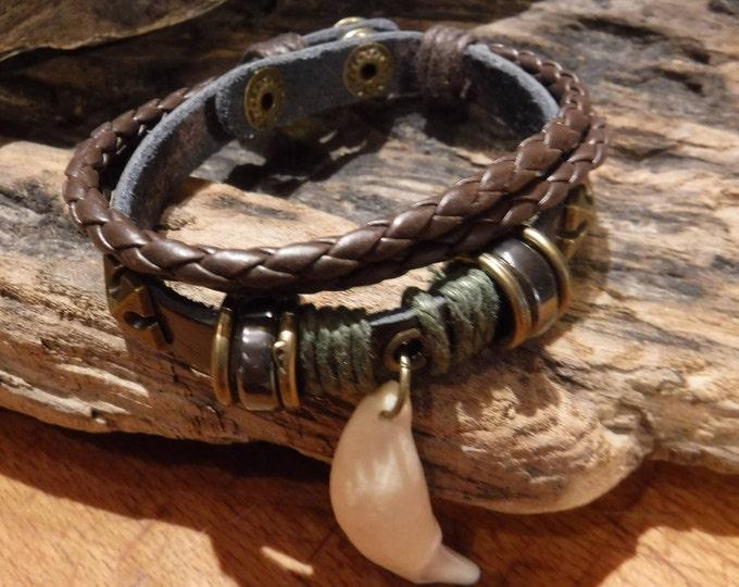 Large Wolf Tooth Bracelet Wolf Bracelet Wolf Bracelet Tribal Wolf Tooth Adjustable Bracelet African Native American Tribal Spiritual Healing