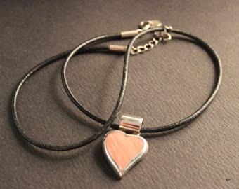"Vintage Sterling Silver Coral Heart Pendant Necklace 18"" Coral Silver Pendant 8.6 Grams Vintage Mexico Coral Heart Necklace Mexico Necklace"