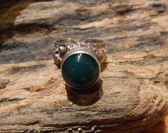 Vintage Sterling Silver Ring Israel Eilat Stone Tower Ring 8.8 Grams Size 7 Ladies Rings Ladies Silver Vintage Silver Rings Sterling Ring
