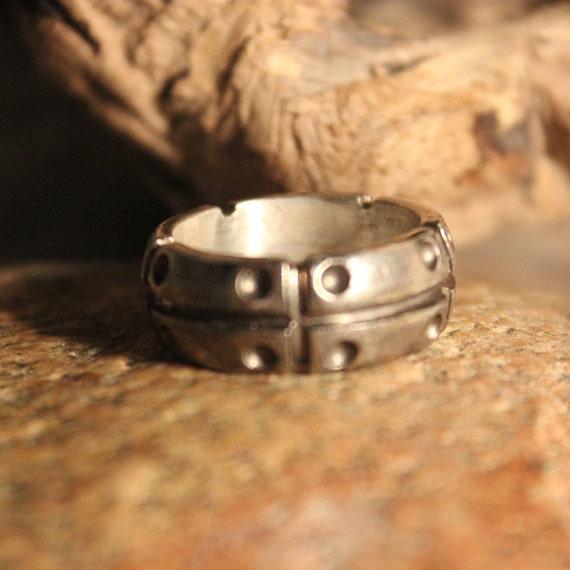 Mens Viking Ring Sterling Viking Band Ring Norse Rings Celtic Rings 9.3 Grams Size 9 Sterling Band Ring MensSilver Rings Mens Vikings Rings