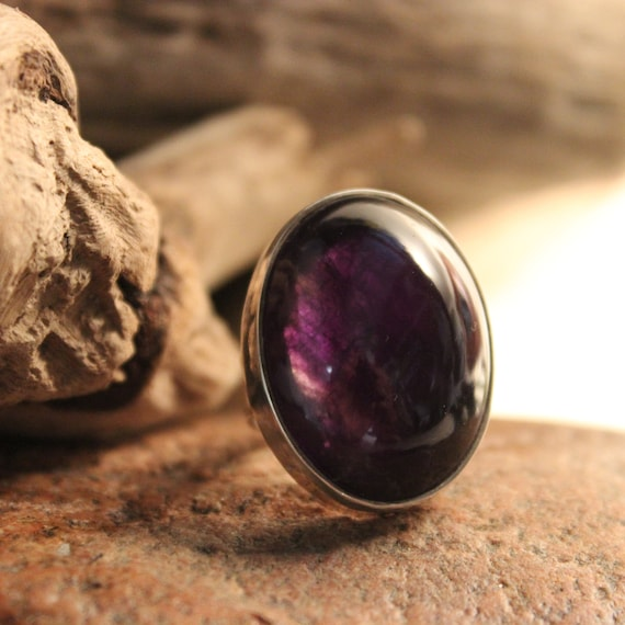 Large Vintage Amethyst Silver Ring Size 7 Weight 13.1 Grams Large Vintage Rings Mens vintage Rings  Vintage Womans  Silver Amethyst Ring