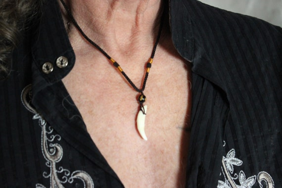 Wolf Tooth Necklace Wolf Teeth Necklace Wolf Necklace Tribal Wolf Tooth Necklace Adjustable African Native American Tribal Spiritual Healing