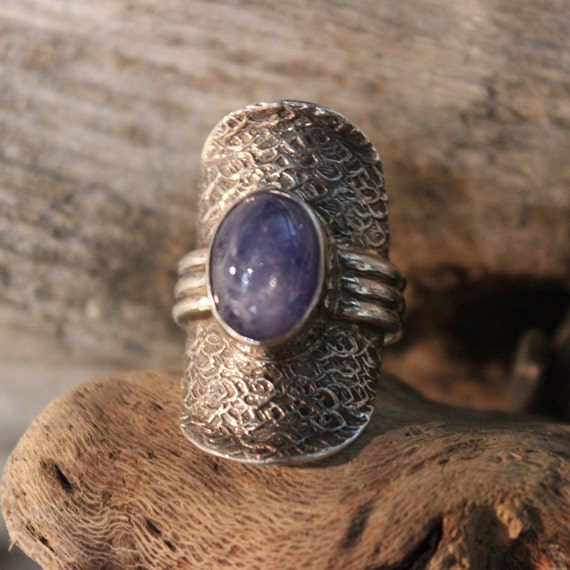 Large Vintage Amethyst Silver Ring Sterling Ring Size 8 Weight 12.8 Grams Ladies Vintage Rings Ladies Vintage Jewelry Silver Amethyst Ring