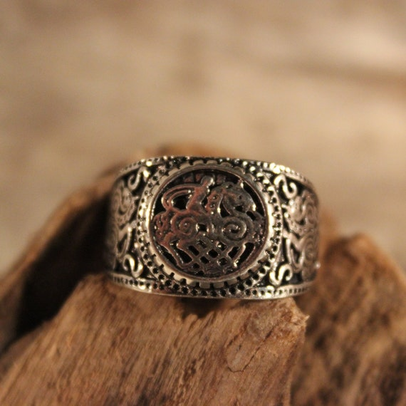 Norse Viking Warrior Ring Vikinger Celtic Ring Size 9 Odin's Valknut Rings Viking Ring   7.2 Grams Mens Silver Claw Rings Mens Norse Rings