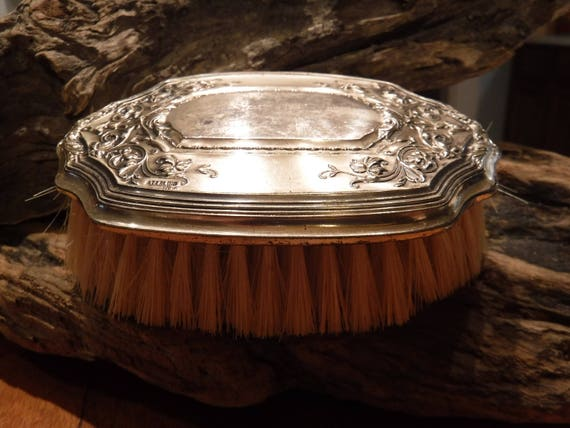 "Vintage 1800""s Nathan & Ridley Hayes Clothes Brush Weight 75.7 Grams Signed N H Stamped Sterling Victorian Sterling Silver Clothes Brush"