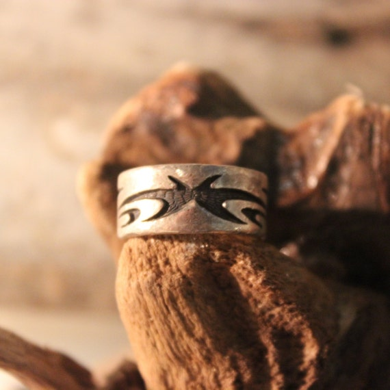 Mens Viking Ring Sterling Viking Band Ring Norse Rings Celtic Rings 7.4 Grams Size 5 Sterling Band Ring MensSilver Rings Mens Vikings Rings