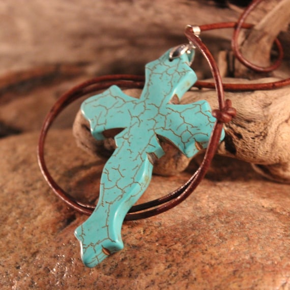 Hand Carved Pendant Necklace Large Natural Stone Pendant Large Turquoise Pendant Handmade Pendant Necklace Handmade Pendant Natural Pendant