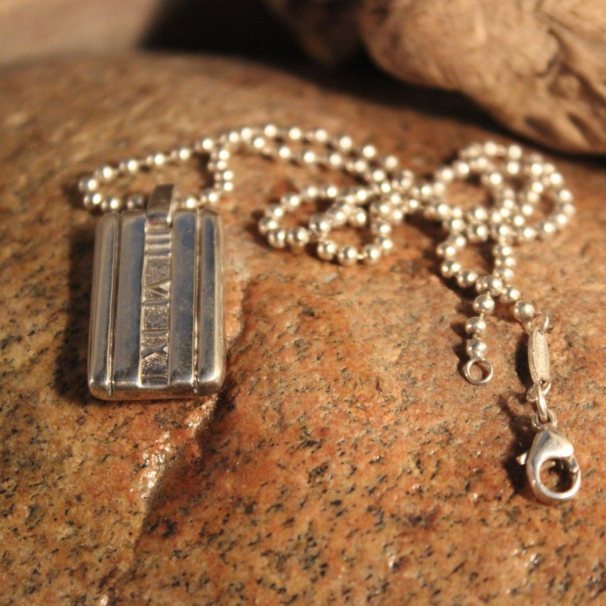 c76c4a890 Authentic Tiffany & Co Atlas Tag Pendant Necklace 17