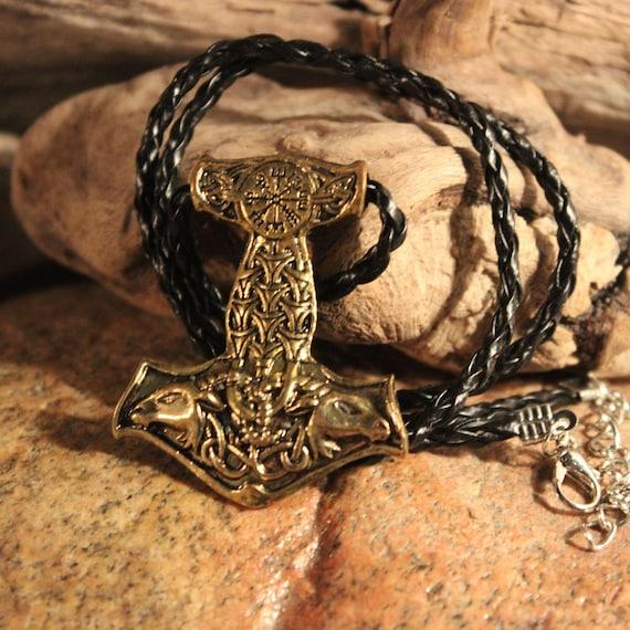 "Odin Thor's Hammer Mjolnir Pendant 24 Grams 18"" Viking Necklaces Pendant Jewelry Scandinavian Viking Thors Hammer Pendant Hammer Mjolnir"
