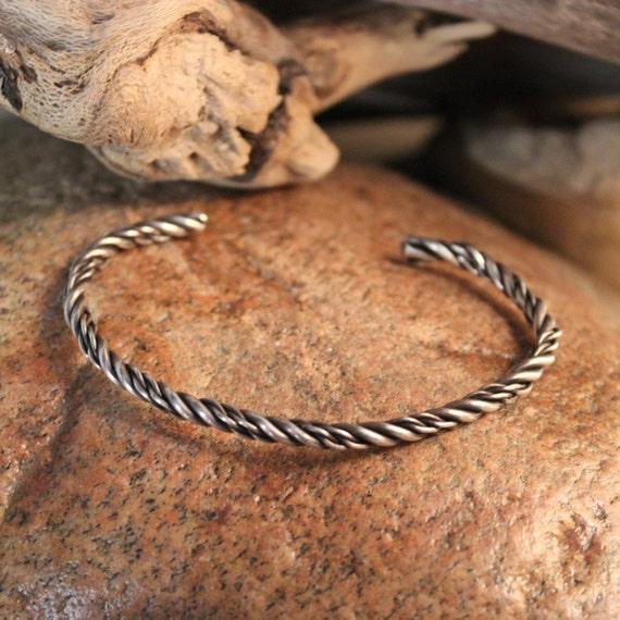 Vintage Viking Sterling Braded Bracelet Viking Norse Bracelet Norse Silver Braded Bracelet 11.5 Grams Viking Jewelry Norse cuff Bracelet