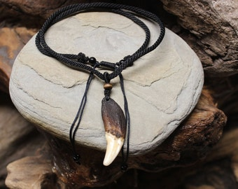 Wolf Tooth Necklace Wolf Teeth Necklace Wolf Necklace Wolf Tooth Necklace Adjustable African Native American Real Wolf Tooth Necklace