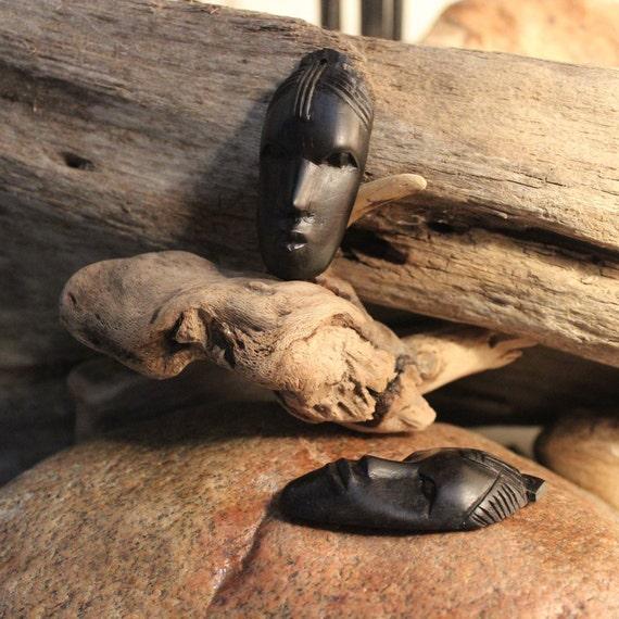 Vintage African Wood Pendants Ebony Pendant Large Ebony Pendant Large Kenya Wood Pendant Large Vintage African Pendants Ebony Pendants