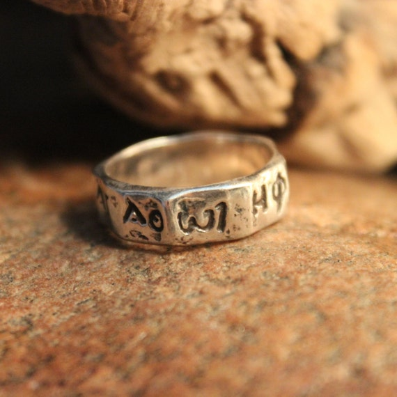 Vintage Sterling Silver Navajo Band Ring Native American Friendship Ring 5 grams Size 7 mens Vintage silver rings Silver Navajo Symbol Ring
