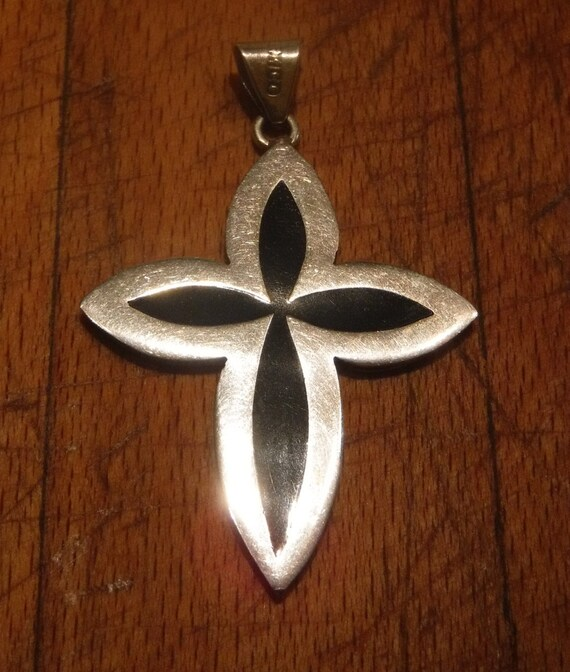 Cross Biker Pendant Vintage Mexico Sterling Heavy 11.5 grams Silver 925 Crucifix  Necklace Pendant Silver Pendant Vintage Silver Pendant