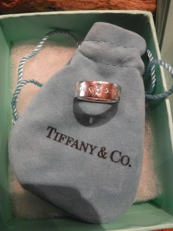 Authentic Tiffany & Co Locks Ring Tiffany Diamond Ring Size 5.25 Tiffany and Co 4.9 grams Tiffany Silver Diamond Band Ring Tiffany Jewelry