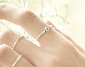 Silver ring stackable