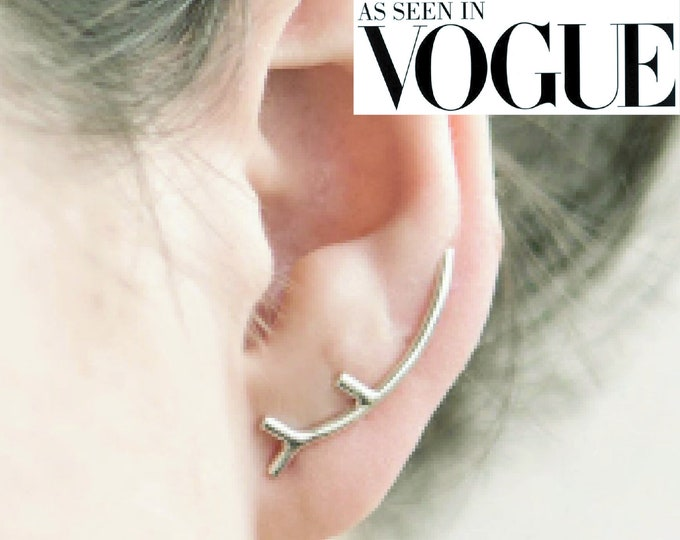 Ear pin, long stud, ear climber, designer jewelry, unique, minimal earring