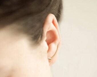 Ear pin, long stud, ear climber, designer jewelry, unique, minimal earring