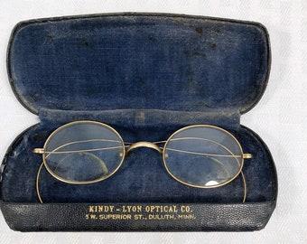 4c58f28534d Antique Eyeglasses Windsor American Optical Company Gold Filled  Oval  Prescription Bifocals pre-1922 Spectacles 38-19-150