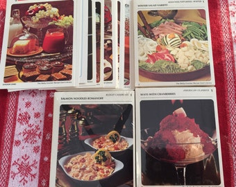 Recipe card library etsy 3 sets betty crocker recipe card library budget casseroles american classics seasonal favorites divider cards companys coming family faves forumfinder Images