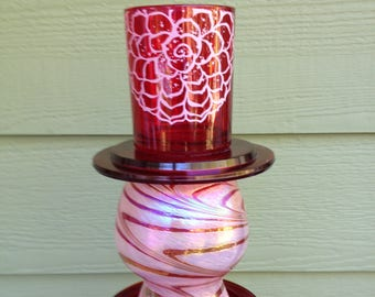 Candy Apple Candle Holder - Centerpiece - Home Decor