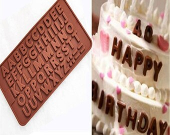 Alphabet Letters Silicone Mold - Chocolate, Cake Icing Decoration Fondant Mold - Create edible messages!