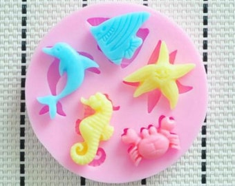 Sea Animal Icing Fondant Cake Mold - Create beautiful ocean themed icing decorations