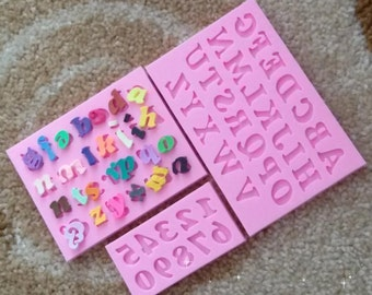 Alphabet Letter & Number Mold Fondant Mould Kit - 3 Piece Set - Easily make words