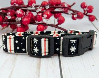 Ugly Christmas Sweater Dog Collar, Christmas Dog Collar, Christmas Cat Collar, Black Dog Collar, Holiday Dog Collar