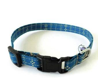 Blue Cat Collar, Striped Cat Collar, Kitten Collar, Blue Kitten Collar, Boy Cat Collar, Girl Cat Collar