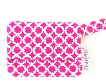 Pink and white dog bag holder, pink poop bag holder, floral dog mess dispenser, waste bag holder, bag holder