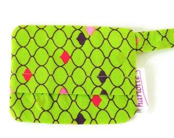 Green clove dog bag holder, green poop bag holder, lime green dog mess dispenser, waste bag holder, bag holder