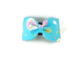 Blue Easter Egg Holiday Dog Bow Tie/Collar Flower, Cat Bow Tie