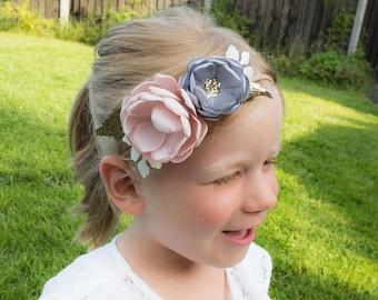 Blush Pink Silver Rose Gold Hairband