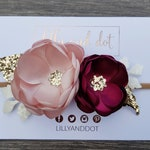 Blush Pink - Burgundy - Rose Gold - Glitter - Boutique - Flower Headband - Baby Headband - Girls Hairband - Flower Crown - Any Colour Combos