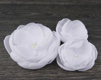 White Wedding - White Hair Clip - White Hair Flower - White Fascinator- White Hair Accessory - White Flower Clip - White Flower Brooch