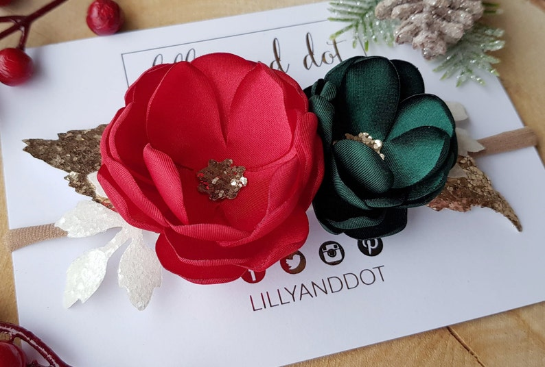 Traditional  Christmas  Party  Festive  Red Green  Gold  image 0