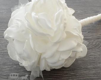 Kissing Ball - Flower Girl Pomander - Bridesmaid Pomander - Flower Girl Bouquet - Bridesmaid Bouquet - Alternative Bouquet - Fabric Bouquet