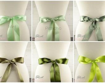 Wedding Sash - Green Sash - Bridal Sash - Bridesmaids Sash - Flower Girls Sash - Bridal Belt - Wedding Theme Sash - Green Wedding Theme
