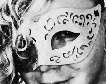 Black Leather Masquerade Mask, Masquerade Mask, Leather Mask, Black Mask, Mardi Gras Masquerade Mask