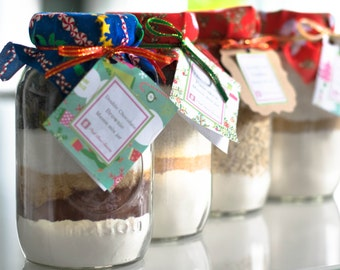 Brownies mix/ Mason Jar/ wedding Favors/ teacher's gift/ kid's activities/ cooperate gifts/ Christmas gifts