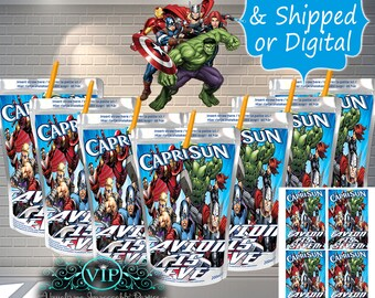 AVENGERS Party Favor Bags Loot Treat Party Supply 25CT