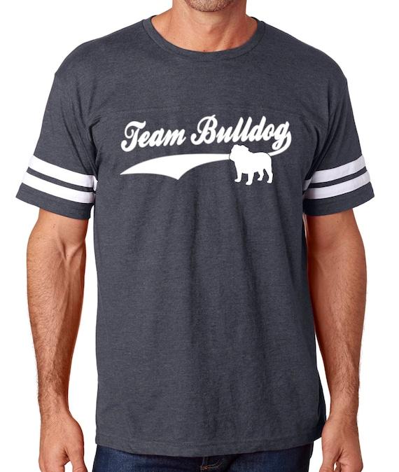 Bulldog Mama women/'s football v neck Bulldog shirts english bulldog shirt