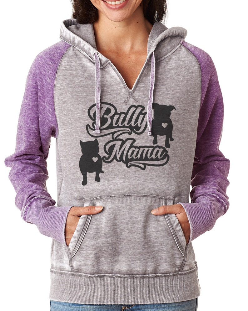 9675e8299 Bully Mama Women's Zen Fitted Pullover hoodie Bully hoodie | Etsy