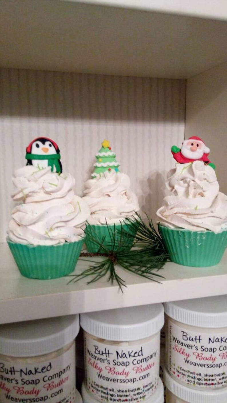 Christmas soapsoap cupcake image 0